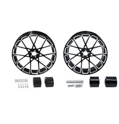 18'' Front And Rear Wheel Rim W/ Disc Hub Fit For Harley Street Road Glide 08-21