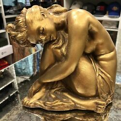 Gold Nude Woman Figural Statue 1961 Universal Statuary Corp. Chicago