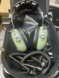 David Clark H10-60 Aviation Headset With Extras. Very Clean.