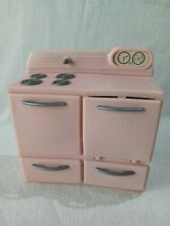 Vintage Tico-toys Little Miss Housekeeper Plastic Play Kitchen Stove Pink