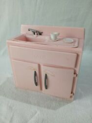 Vintage Tico-toys Little Miss Housekeeper Plastic Play Kitchen Sink Pink