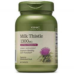 2 Pack Gnc Milk Thistle 1300 Mg Xtra Strength Supports Liver Health