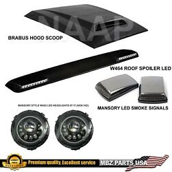 W464 Roof Spoiler Mansory Signals Headligts Led W463 Hood Scoop