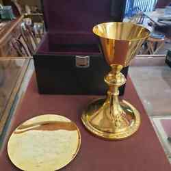 Vintage Memorial Fourth Degree Knights Of Columbus Communion Chalice And Paten