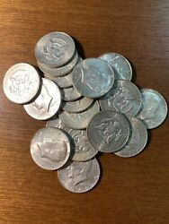 40 Silver Kennedy Half Dollars Roll. All Nice Shape. Years Will Be Our Choice.