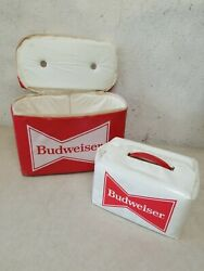 Rare Vintage Budweiser Cooler Bag, 6 Pack Soft Case, Thermo-keep Complete