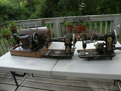Antique Sewing Machines Singer, Minnesota A, Western Electric 3 For Parts Plus