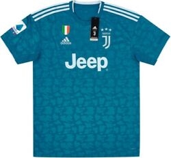 New L Adidas 2019 2020 Juventus Third Jersey + Scudetto Patch + Serie A Patch