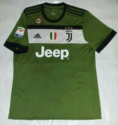 New L Adidas 2017 2018 Juventus Third Jersey + Scudetto Tricolore Serie A Patch