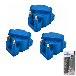 3 Pack Racing Ignition Coil And Grease For Chevrolet 5.3l 4.6l 3.1l 3.4l 2.2l 2.5l