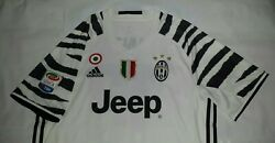New L Adidas 2016 2017 Juventus Third Jersey + Scudetto Tricolore Serie A Patch