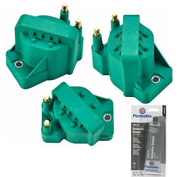 3 Pack Direct Ignition Coil And Grease For Chevrolet 5.3l 4.6l 3.1l 3.4l 2.2l 2.5l