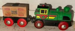 Old Vintage Wooden Brio Co. Engine Train Set From China 1999