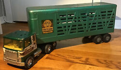 1950's Structo Farms Trailer And Nylint Cattle Hauler Cab