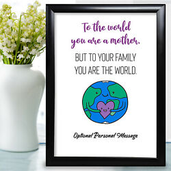 Personalised Gifts For Mum Mothers Day Mother Thank You Birthday Mummy Keepsake