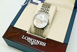 Longines Elegant Automatic Mother Of Pearl And Diamonds Dial Ladies Watch L4.809.4