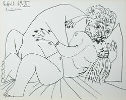 Le Vent D'arles 26.11.69.vii By Pablo Picasso Plate Signed Lithograph