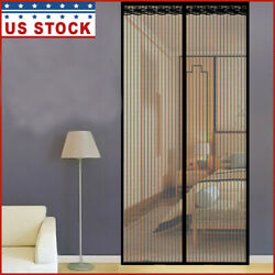 Magnetic Screen Door Hands-free Mosquito Mesh Anti Bugs Fly Curtain Black/white