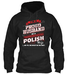 Polish-pround Husband-01 Classic Pullover Hoodie - Poly/cotton Blend By Ngtrung