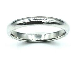 And Co. Platinum Pt950 3mm Wedding Band Ring 9.5