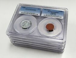 1943 Lincoln Steel Cent And 1945 Clay 1 Sen Wwii Set Pcgs Genuine 5-piece Lot