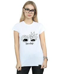 Rick And Morty Femme Heads Mono T-shirt