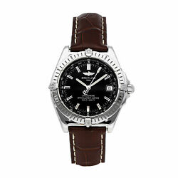 Breitling Wings Auto 38mm Steel Mens Strap Watch Date A1035012/b507