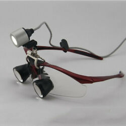 3.5x Dental Lab Loupes Surgical Medical Binocular Magnifier Glasses With Light