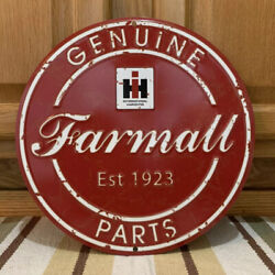 Farmall Ih Genuine Parts Farm Equipment Signs Implements Tractors Vintage Style