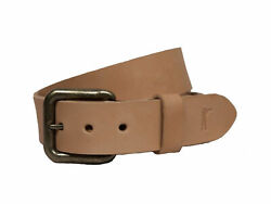 Ball And Buck Men's Natural Leather Last Belt You'll Ever Buy 118 Nwot