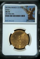 Libertad Mexico 2017 1/2 Oz Onza Gold Coin Ngc Ms70 Limited Mintage Of 700 Nice