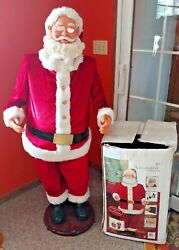 Gemmy Christmas Animated Dancing Santa Claus 5 Ft Sings Moves Read See Video