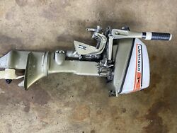 1973 Johnson 6hp Outboard Motor, 24 Inch Shaft , Low Compression , For Parts