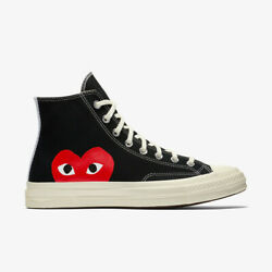 New Cdg Converse X Comme Des Garcons Play Half Heart 150204c Black/white/red