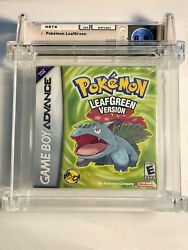 Pokemon Leaf Green Version Gba Factory Sealed Wata Certified A+ 8.5 Rating