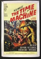 The Time Machine Original Movie Poster Rod Taylor 1960 Hollywood Posters