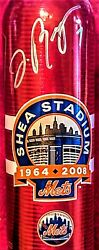 Extremely Rare New York Mets Jose Reyes Signed Budweiser Metal Bottle Last Year