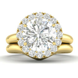 1.29ct D-si1 Diamond Unique Engagement Ring 14k Yellow Gold Any Size