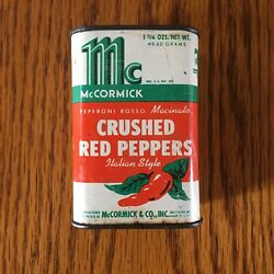 Vintage Mccormick Crushed Red Peppers Tin Italian Peperoni Rosso Macinato