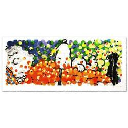Tom Everhart Pillow Talk Snoopy And Charlie Brown Peanuts Hand Signed Lithograph