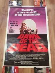 Dawn Of The Dead Vintage Rolled Zombie Horror Film Movie Poster George A Romero