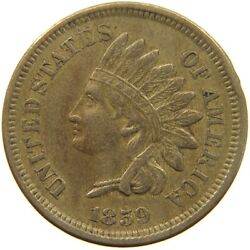 United States Cent 1859 Indian Head T140 369