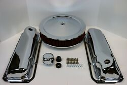 Ford 351c 400m Chrome Engine Dress Up Kit Valve Covers Red Washable Air Cleaner