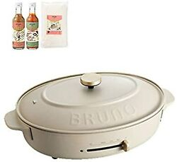 Bruno Oval Hot Plate 3 Types Of Plates Flat Takoyaki Deep Pot Cooking No Size