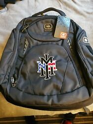 Black Ogio Mercur Backpack With Embroidered Nmmi American Flag Stack Logo