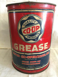 Vintage Co-op Petroleum Colorful 5 Lb. Grease Can