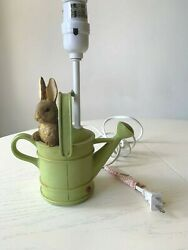 Rare Beatrix Potter Peter Rabbit Watering Can Fw And Co. 1999 Lamp Nursery Kids