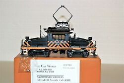 Car Works Brass O Sacramento Northern Ge-alco Steeple Cab 653 Powered And Painted