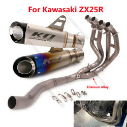 Slip On For Kawasaki Zx25r Motorcycle Header Pipe Connecting Exhaust Muffler Tip
