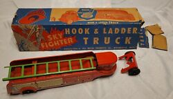 Wyandotte Toys Sky Fighter Hook And Ladder 1 Fire Truck Trailer Michigan In Box